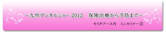 歯科衛生士の沢口由美子の九州デンタルショー2012 保険治療から予防まで